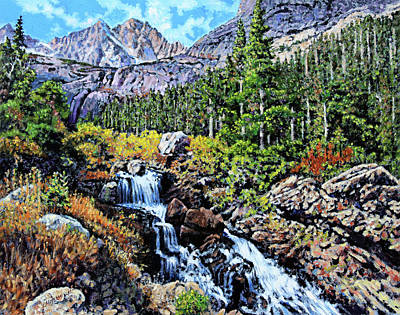Painting - Returning To Colorado Rockies by John Lautermilch