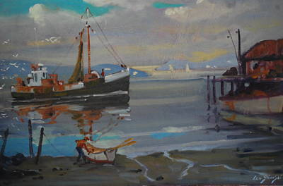 Painting - Returning To Port by Len Stomski