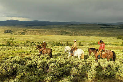 Photograph - Returning To The Stable At Absaroka Ranch, Wyoming by Kay Brewer
