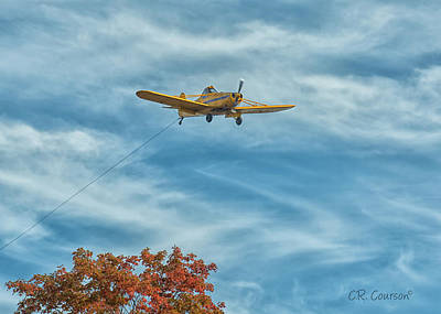 Photograph - Returning Tow Plane by CR Courson