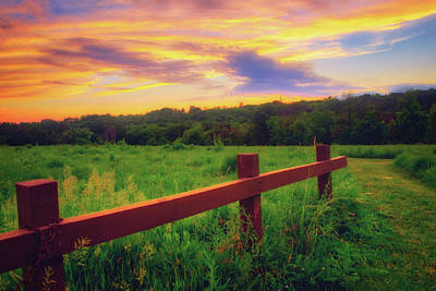 Photograph - Retzer Nature Center - Sunset Over Field by Jennifer Rondinelli Reilly - Fine Art Photography