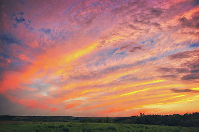 Photograph - Retzer Nature Center - Warm Summer Sunset With Clouds by Jennifer Rondinelli Reilly - Fine Art Photography