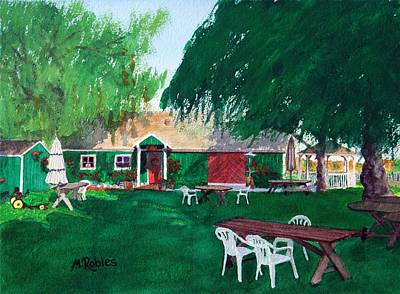Winery Painting - Retzlaff Winery by Mike Robles
