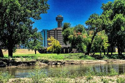 Photograph - Reunion Tower Over The Trinity by Diana Mary Sharpton