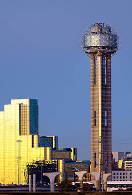 Photograph - Reunion Tower Reflections by Rospotte Photography