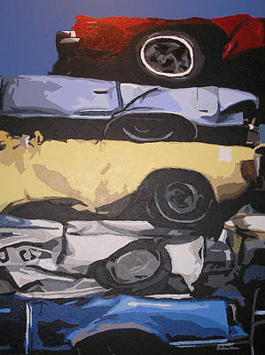 Junk Yard Painting - Reunited by Ricklene Wren