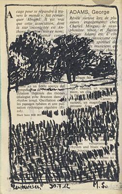 Painting - Reutwiesen,tree Landscape by Martin Stankewitz