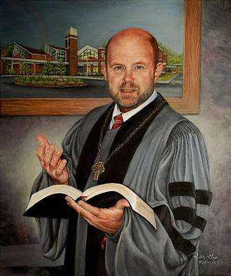 Painting - Rev. Jeff Garrison by Ruth Gee
