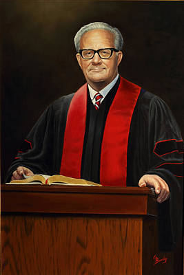 Painting - Rev Joe Phillips by Glenn Beasley