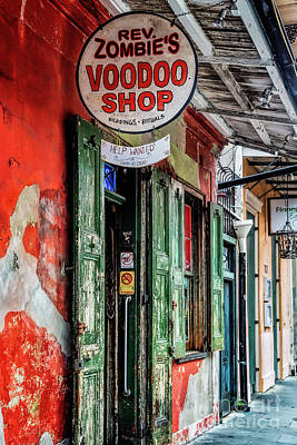 Photograph - Rev. Zombie's Voodoo Shop by Jarrod Erbe