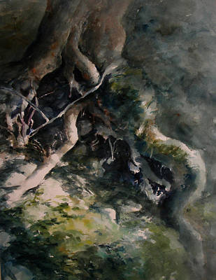 Tree Roots Painting - Revealed by Rachel Christine Nowicki
