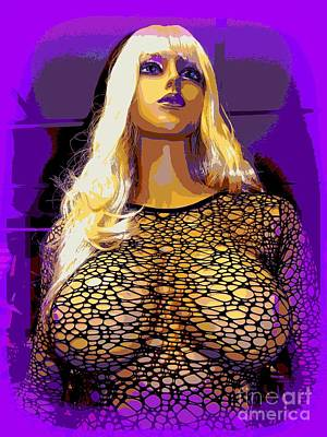 Balck Art Digital Art - Revealing Ramona by Ed Weidman