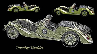 Rights Managed Images Digital Art - Revealing Roadster by David and Lynn Keller