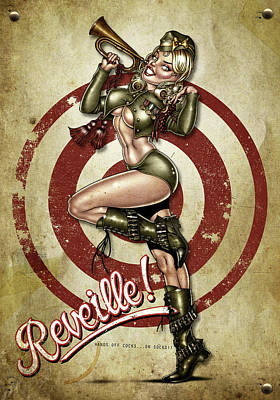 Pin Up Digital Art - Reveille by Andy Screen