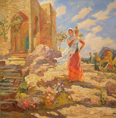 Revekka Near The Well Print by Svetlana Anoshkina