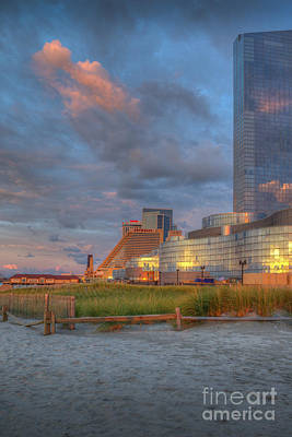 Photograph - Revel Tump And Showboat Hotel Casinos by David Zanzinger