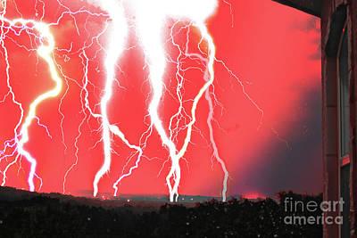Photograph - Lightning Apocalypse by Michael Tidwell