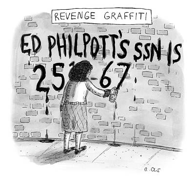 Drawing - Revenge Graffiti by Roz Chast