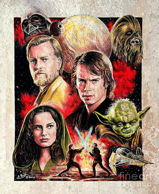 Revenge Of The Sith  Splash Effect Art Print by Andrew Read