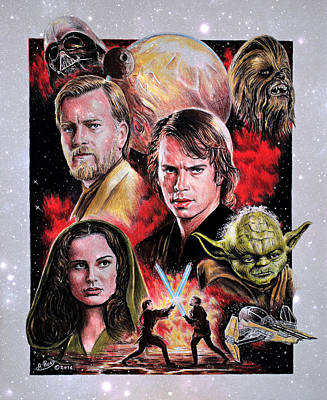 Painting - Revenge Of The Sith Star Edit by Andrew Read