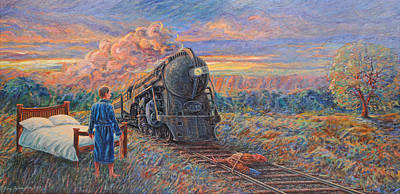 Painting - Revenge Of The Sleepless Man by Gary Symington