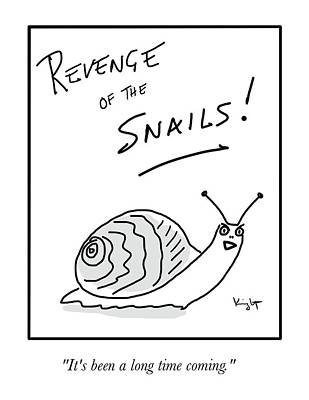 Drawing - Revenge Of The Snails by Douglas Knight