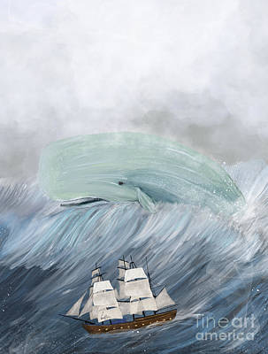Painting - Revenge Of The Whale by Bleu Bri