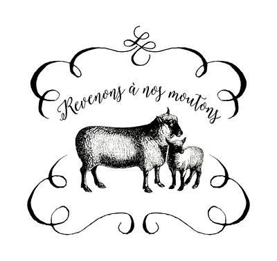 Revenons A Nos Moutons Art Print