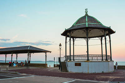 Photograph - Revere Beach Bandstand At Sunset Revere Ma by Toby McGuire