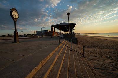 Photograph - Revere Beach Sunrise Revere Ma Clock by Toby McGuire