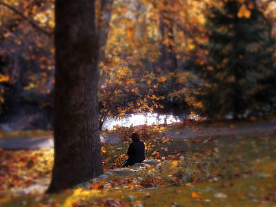 Autumn River Photograph - Reverence  by Jessica Jenney