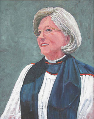 Painting - Reverend Mary Gregorius by Thomas Michael Meddaugh