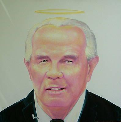 Reverend Pat Robertson Art Print by Gary Kaemmer