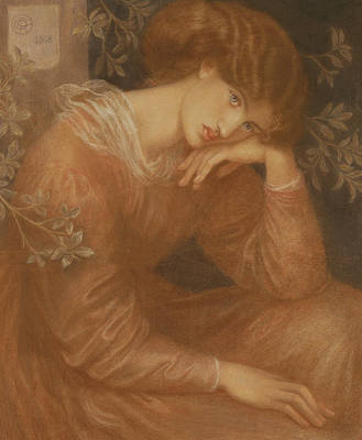 Lost In Thought Painting - Reverie by Dante Gabriel Charles Rossetti