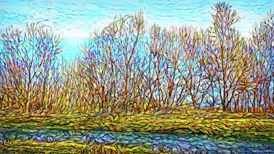 Trippy Digital Art - Reverie Of The Trees by Joel Bruce Wallach