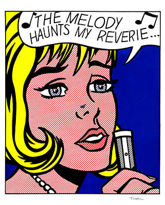 The Melody Haunts My Reverie - Roy Lichtenstein Art Print