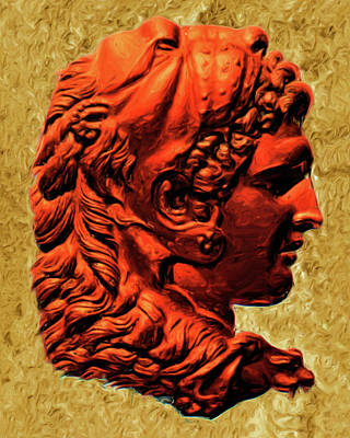 Painting - Reverse Profile Of Alexander by Troy Caperton