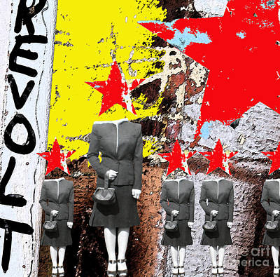 Oppression Digital Art - Revolt by Gary Everson