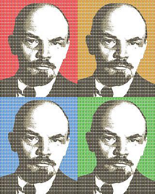 Lenin Digital Art - Revolution #4 X 4 by Gary Hogben
