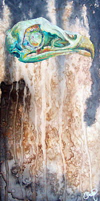 Painting - Revolution Bird Skull by Christy Freeman Stark