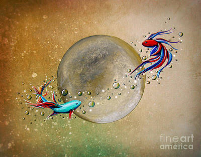 Goldfish Wall Art - Painting - Revolution by Cindy Thornton