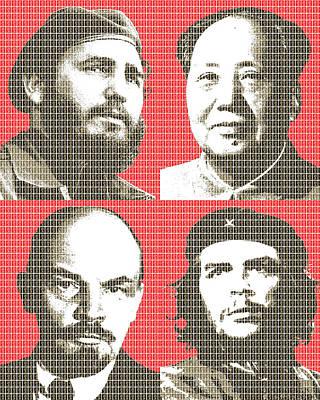 Lenin Digital Art - Revolution by Gary Hogben