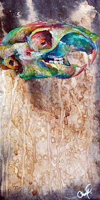 Drippy Painting - Revolution Squirrel by Christy  Freeman