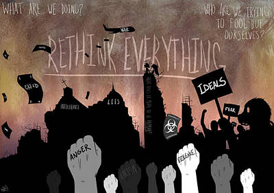 Mixed Media - Revolution by Sunshine Ammerman