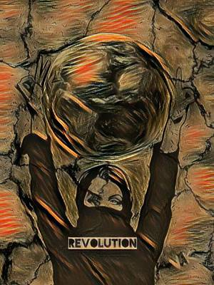 Digital Art - Revolution  by Vennie Kocsis