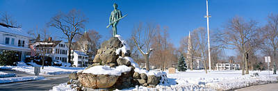 Civil Building Photograph - Revolutionary War Memorial In Winter by Panoramic Images