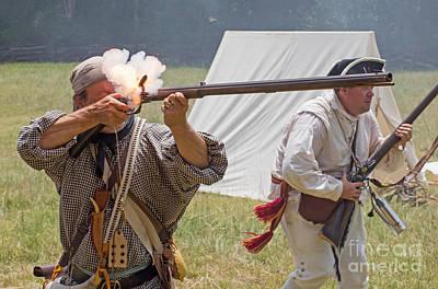 Revolutionary War Reenactment Art Print