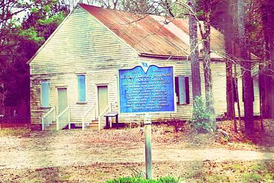 Photograph - Revolutionary War Skirmish At Horn Creek Baptist Church by Lisa Wooten