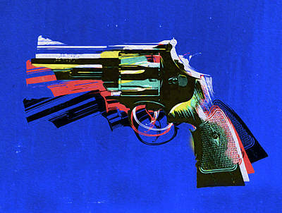 Mixed Media - Revolver 1,nixo by Nicholas Nixo