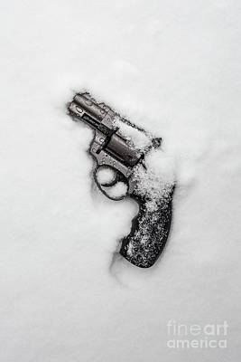 Photograph - Revolver In The Snow by Edward Fielding